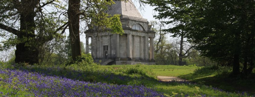 Cobham Mausoleum & Bluebells surrounding