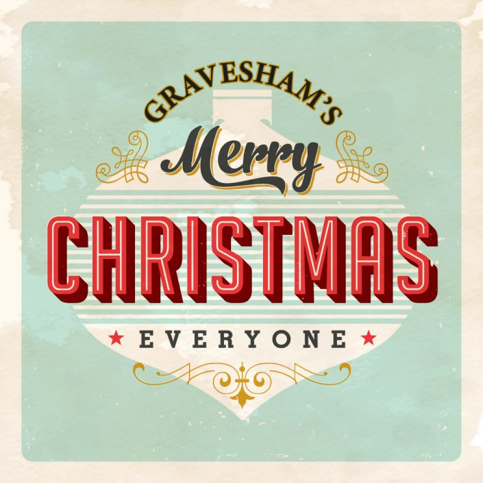 Graveshams Merry Christmas logo